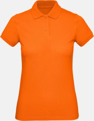 Orange (dam) Neutrala eko pikéer med reklamtryck