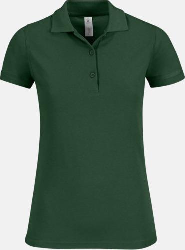 Bottle Green Pikétröjor med tryck för dam