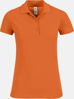 Pumpkin Orange Pikétröjor med tryck för dam