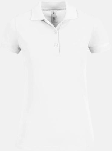Vit Pikétröjor med tryck för dam