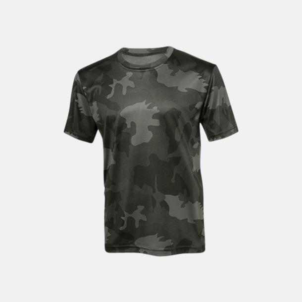 Black Laser Camo (unisex) Kortärmade funktions t-shirts med reklamtryck