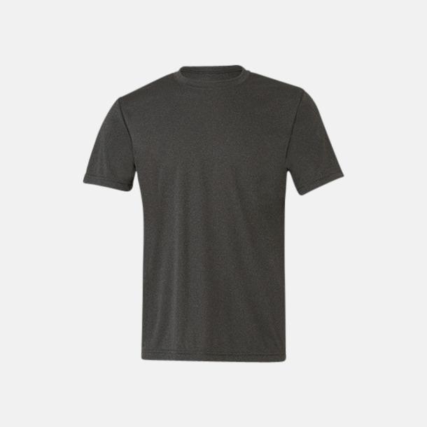 Dark Grey Heather (unisex) Kortärmade funktions t-shirts med reklamtryck