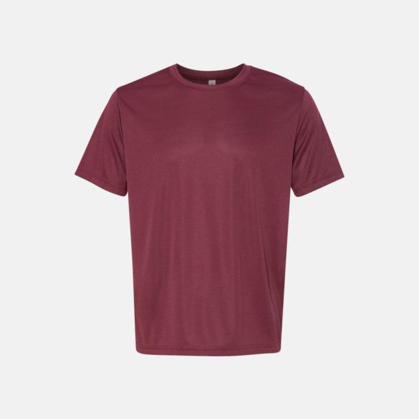 Heather Maroon (unisex) Kortärmade funktions t-shirts med reklamtryck