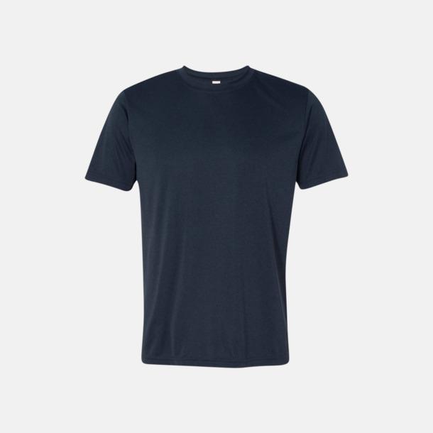 Heather Navy (unisex) Kortärmade funktions t-shirts med reklamtryck