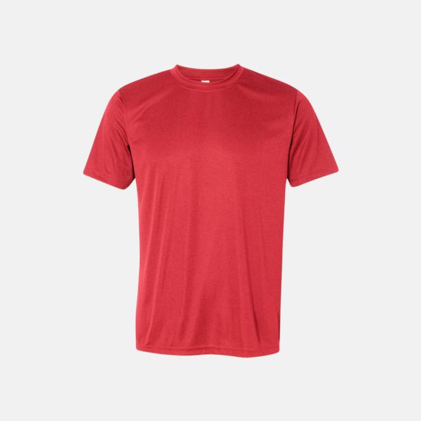 Heather Red (unisex) Kortärmade funktions t-shirts med reklamtryck