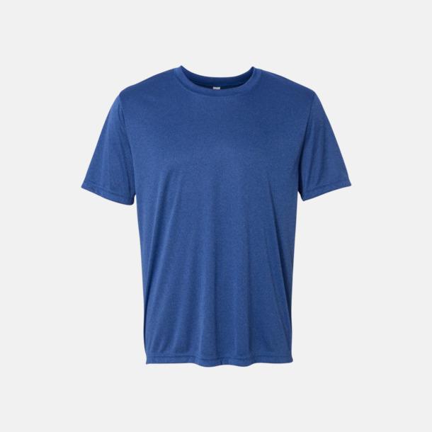 Heather Royal (unisex) Kortärmade funktions t-shirts med reklamtryck