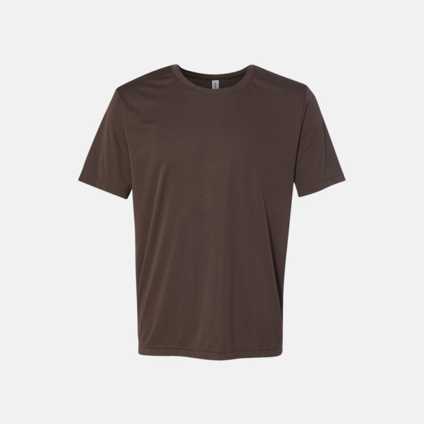 Sport Dark Brown (unisex) Kortärmade funktions t-shirts med reklamtryck