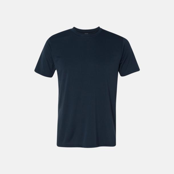 Sport Dark Navy (unisex) Kortärmade funktions t-shirts med reklamtryck