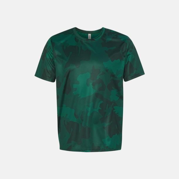 Sport Forest Laser Camo (unisex) Kortärmade funktions t-shirts med reklamtryck