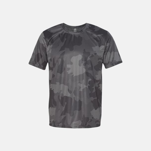 Sport Graphite Laser Camo (unisex) Kortärmade funktions t-shirts med reklamtryck