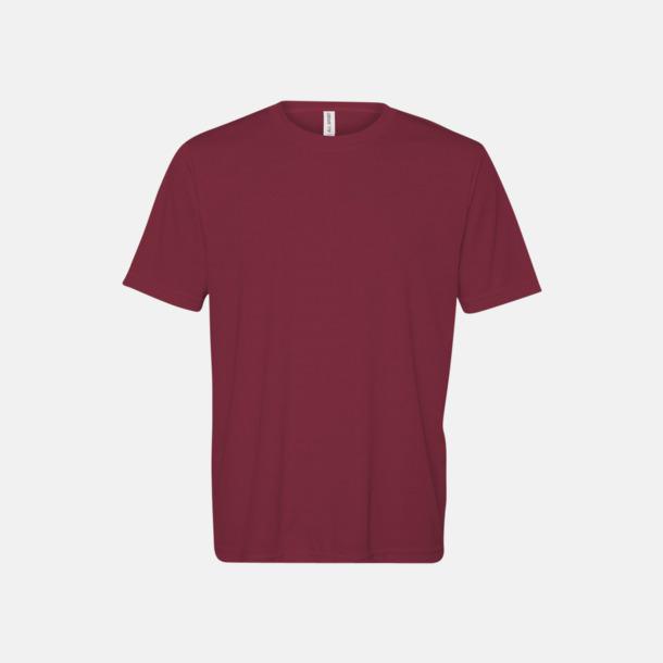 Sport Maroon (unisex) Kortärmade funktions t-shirts med reklamtryck