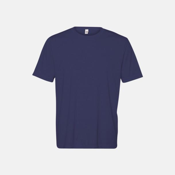 Sport Navy (unisex) Kortärmade funktions t-shirts med reklamtryck