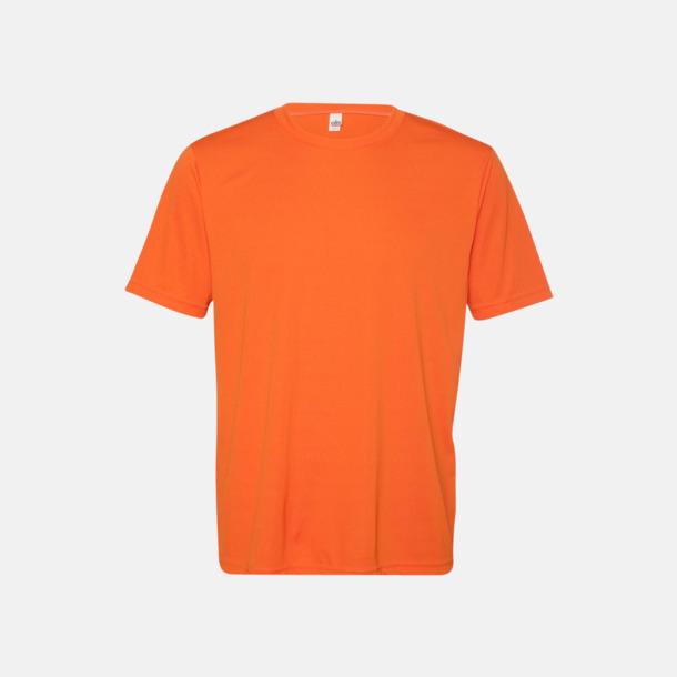 Sport Orange (unisex) Kortärmade funktions t-shirts med reklamtryck