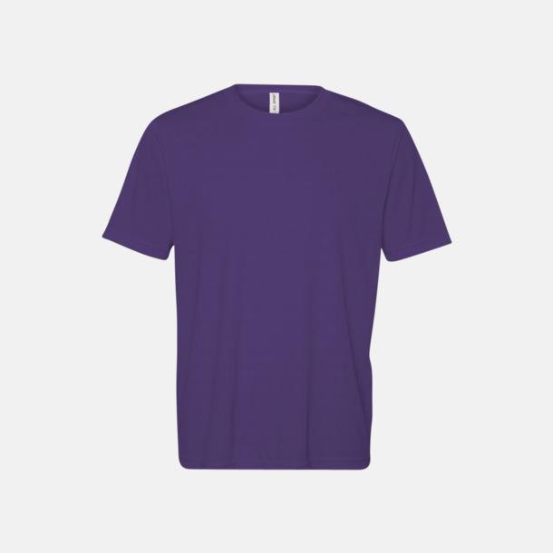 Sport Purple (unisex) Kortärmade funktions t-shirts med reklamtryck