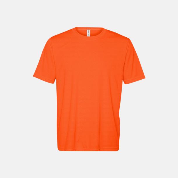 Sport Safety Orange (unisex) Kortärmade funktions t-shirts med reklamtryck