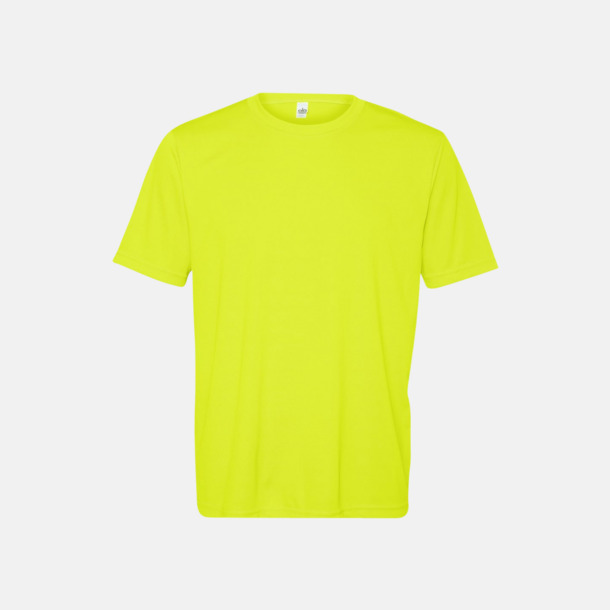 Sport Safety Yellow (unisex) Kortärmade funktions t-shirts med reklamtryck