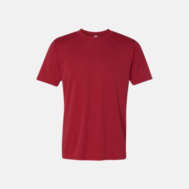 Sport Scarlet Red (unisex) Kortärmade funktions t-shirts med reklamtryck