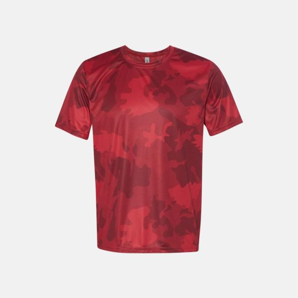 Sport Scarlet Red Laser Camo (unisex) Kortärmade funktions t-shirts med reklamtryck