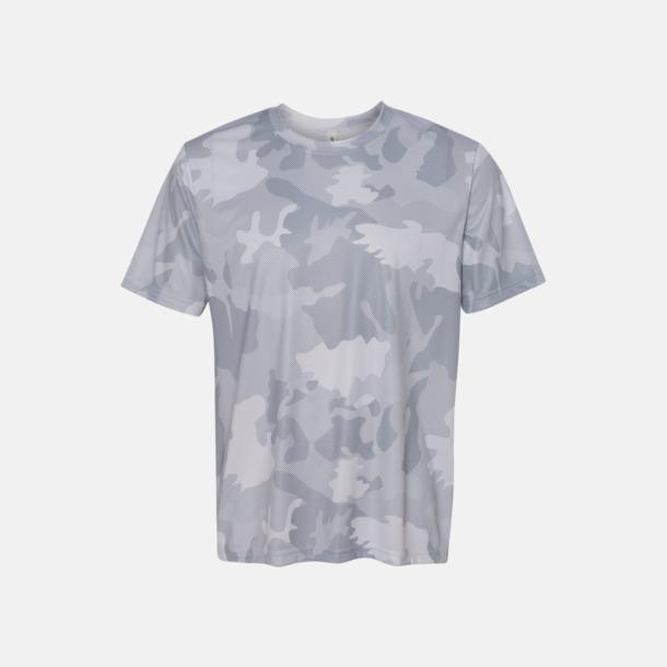 White Laser Camo (unisex) Kortärmade funktions t-shirts med reklamtryck