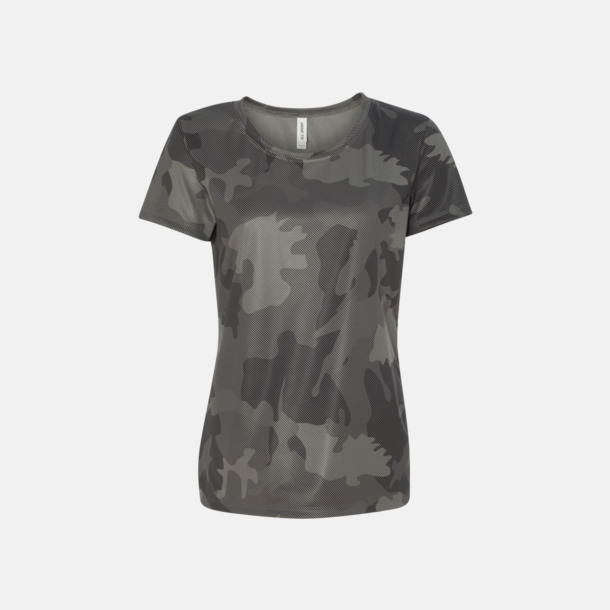 Sport Graphite Laser Camo (dam) Kortärmade funktions t-shirts med reklamtryck