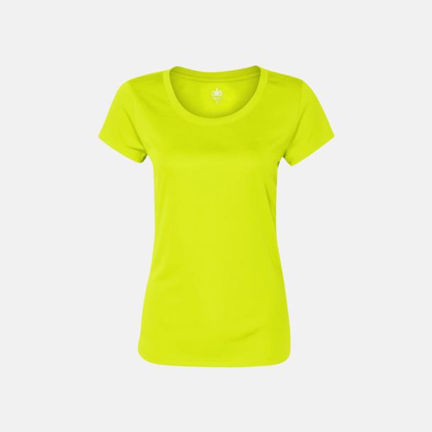 Sport Safety Yellow (dam) Kortärmade funktions t-shirts med reklamtryck
