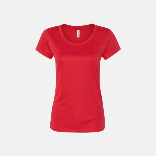 Sport Scarlet Red (dam) Kortärmade funktions t-shirts med reklamtryck