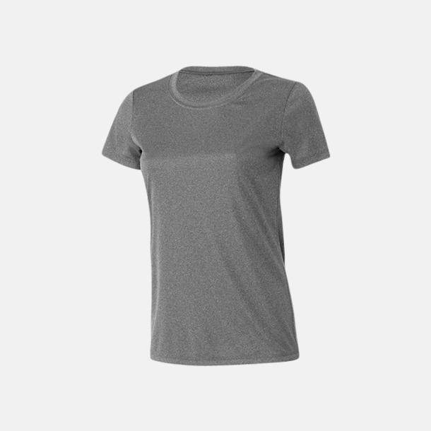 Athletic Heather (dam) Kortärmade funktions t-shirts med reklamtryck