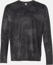 Långärmade funktions t-shirts med reklamtryck