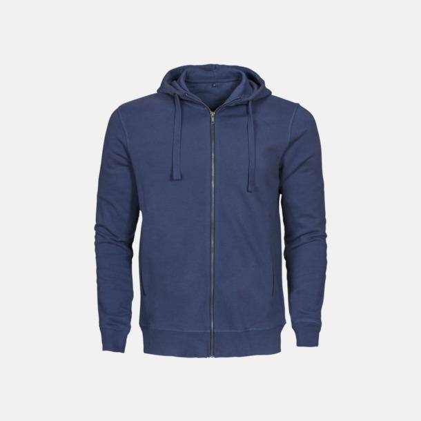 Faded Blue (herr) Exklusiva huvtröjor med reklamtryck
