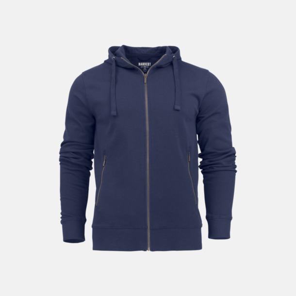 Marinblå (herr) Exklusiva huvtröjor med reklamtryck