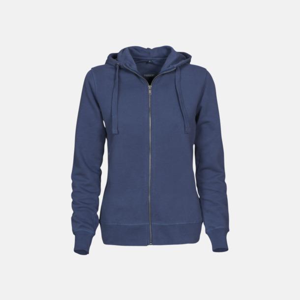 Faded Blue (dam) Exklusiva huvtröjor med reklamtryck