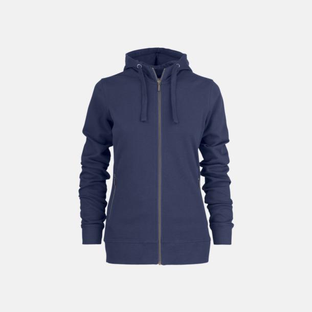 Marinblå (dam) Exklusiva huvtröjor med reklamtryck