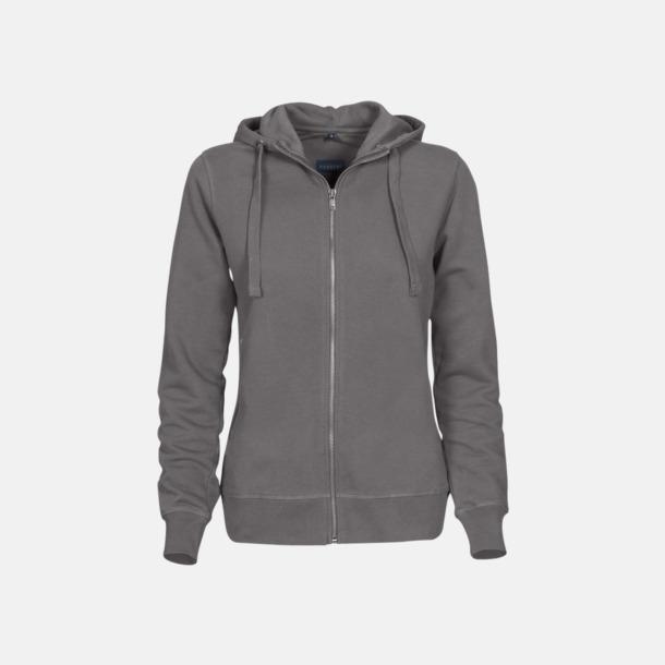 Faded Grey (dam) Exklusiva huvtröjor med reklamtryck