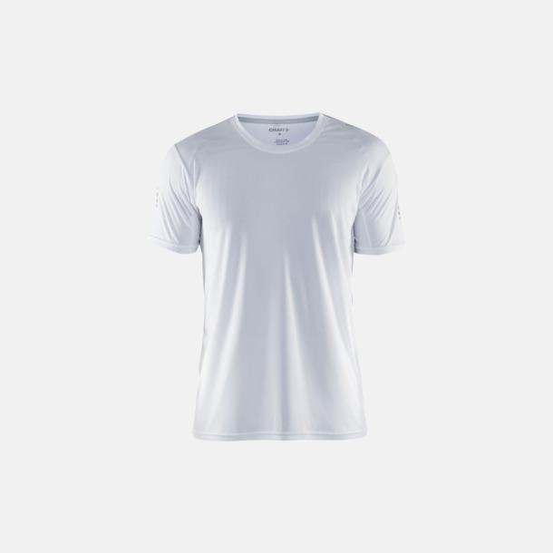 Vit (herr) Funktions t-shirt från Craft med eget reklamtryck