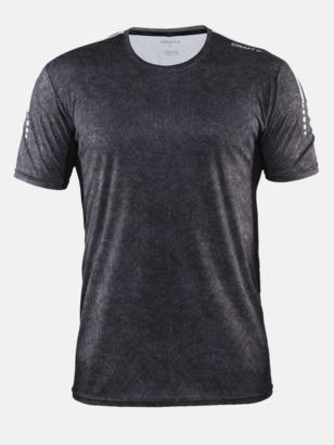 Svart/Platinum (herr) Funktions t-shirt från Craft med eget reklamtryck