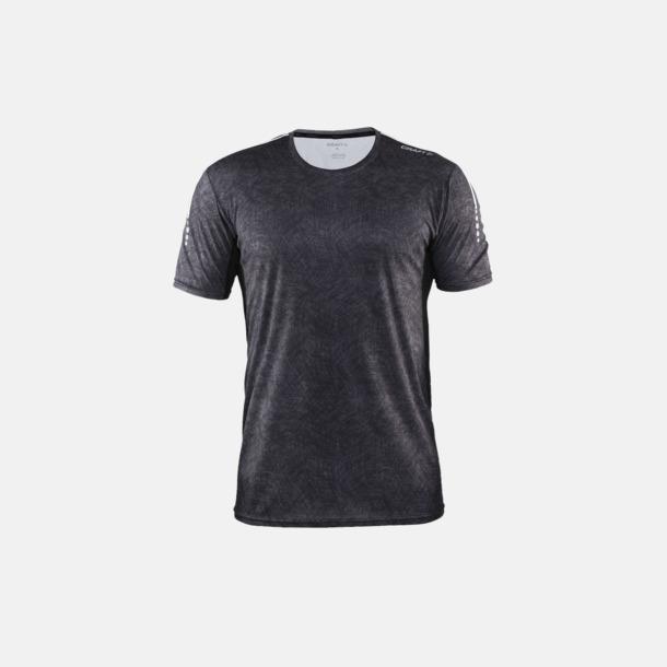 P. Line Black/Platinum (herr) Funktions t-shirt från Craft med eget reklamtryck