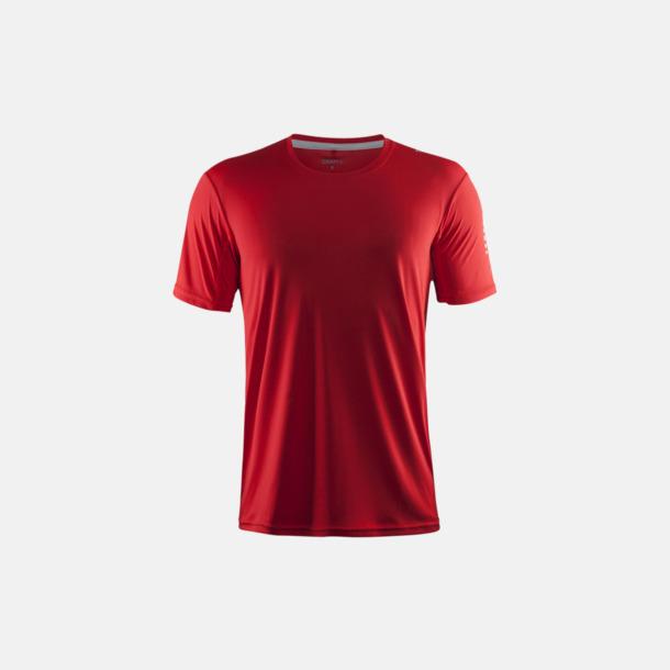 Bright Red (herr) Funktions t-shirt från Craft med eget reklamtryck