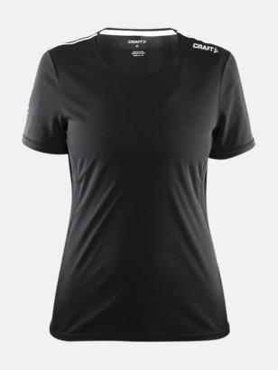 Svart (dam) Funktions t-shirt från Craft med eget reklamtryck