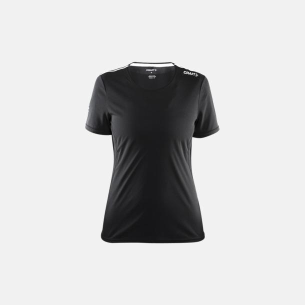 Svart/Platinum (dam) Funktions t-shirt från Craft med eget reklamtryck