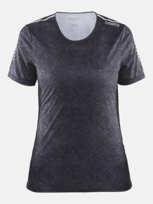 Svart/Svart/Platinum (dam) Funktions t-shirt från Craft med eget reklamtryck