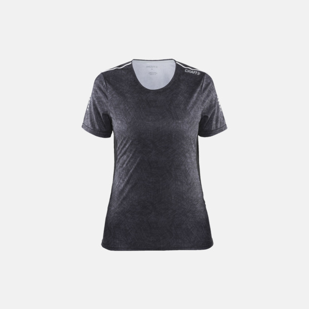 P. Line Black/Platinum (dam) Funktions t-shirt från Craft med eget reklamtryck