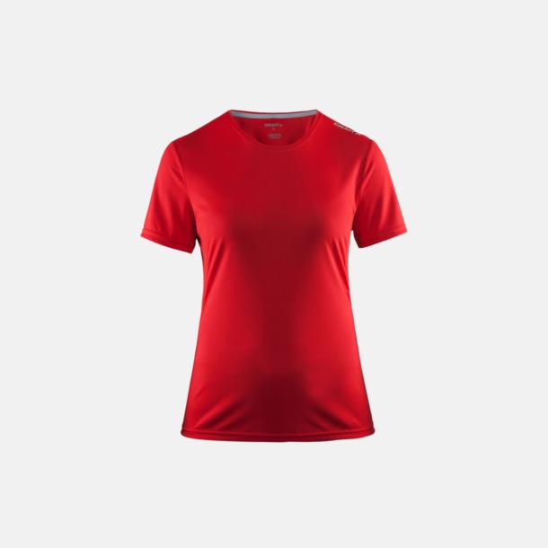 Bright Red (dam) Funktions t-shirt från Craft med eget reklamtryck