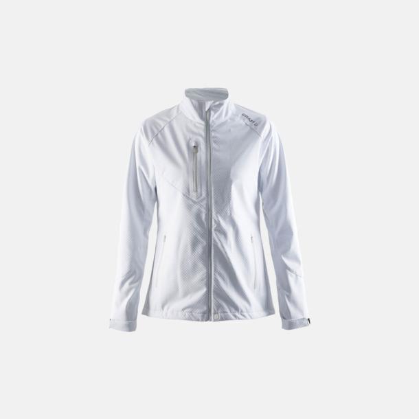 Vit (dam) Bormio soft shell jacka från Craft med eget reklamtryck