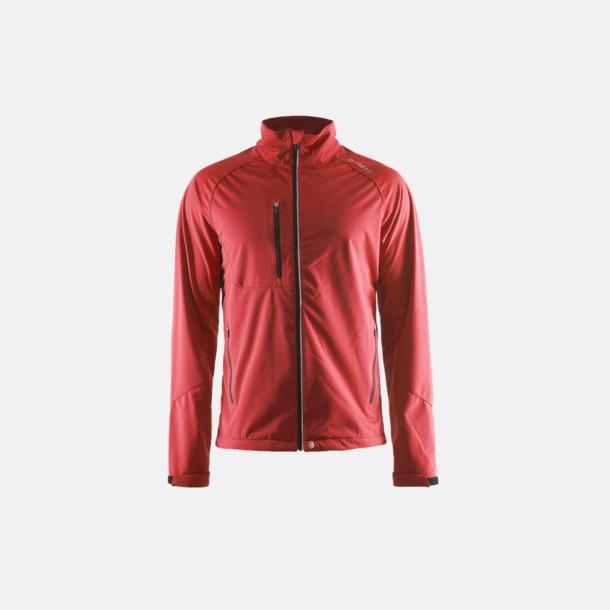 Bright Red (herr) Bormio soft shell jacka från Craft med eget reklamtryck