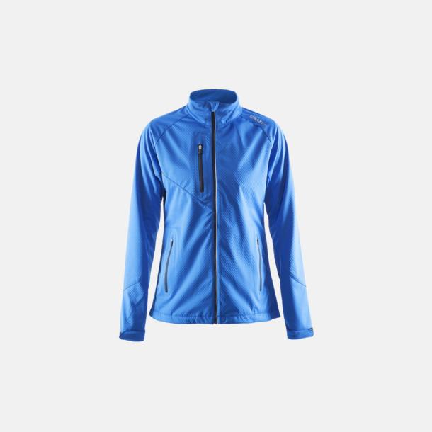 Sweden Blue (dam) Bormio soft shell jacka från Craft med eget reklamtryck