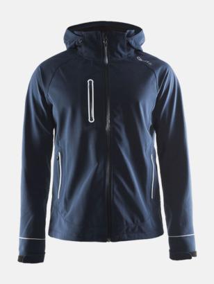 Dark Navy (herr) Craft softshell jackor med eget reklamtryck