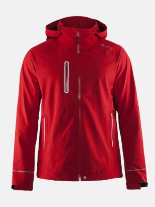 Bright Red (herr) Craft softshell jackor med eget reklamtryck