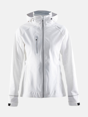 Vit (dam) Craft softshell jackor med eget reklamtryck