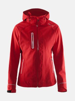 Bright Red (dam) Craft softshell jackor med eget reklamtryck
