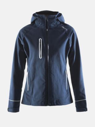 Dark Navy (dam) Craft softshell jackor med eget reklamtryck